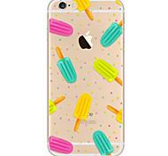 Назначение iPhone X iPhone 8 iPhone 7 iPhone 7 Plus iPhone 6 Чехлы панели Ультратонкий С узором Задняя крышка Кейс для Продукты питания