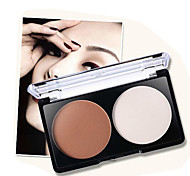 1Pcs Brand Makeup 2 Color Bronzer Highlighter Powder Palette Trimming Powder Make Up Face Cosmetic Contour Pressed Powder