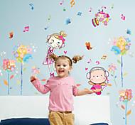 Мода Цветы люди Наклейки Простые наклейки Декоративные наклейки на стены,Бумага материал Украшение дома Наклейка на стену