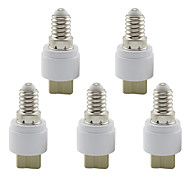 Lamp Base E14 to G9 Ceramic Socket Holder Converter for Lamp Lights Bulb (5 Pieces)