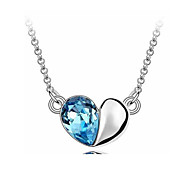 Sweet heart hanging heart necklace jewelry small Korean clavicle restless heart necklace 0344#