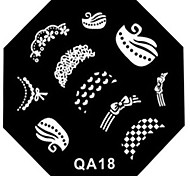 Nail Art Stamp Stamping Image Template Plate