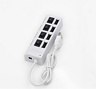 4-Port USB 2.0 Hub with Individual Power Switches and LEDs 0.05m(0.15Ft)