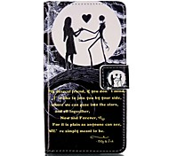 For Sony XP M4 Case Cover Moon Couple Pattern Painting Card Stent PU Leather Phone Case