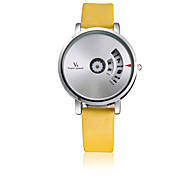 V6® Men's Women's Fashion Watch Quartz / Leather Band Casual Black White Red Yellow Brand