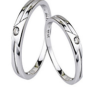 Ring Jewelry Sterling Silver Simulated Diamond Simple Style Silver Jewelry Party Daily 1pc