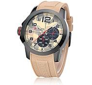 Sport Watch Wrist watch Quartz Silicone Band Brown Green Brand