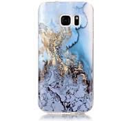 For Samsung Galaxy S7 S6 Edge Case Cover Marble High - Definition Pattern TPU Material IMD Technology Soft Package Mobile Phone Case  S5 S4 S3