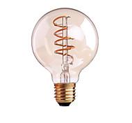 4W B22 E26/E27 Lampadine LED a incandescenza G80 1 COB 400 lm Bianco caldo Intensità regolabile AC 220-240 AC 110-130 V 1 pezzo