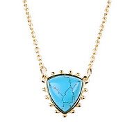 Women's Pendant Necklaces Turquoise Alloy Heart Leaf Euramerican Light Green Jewelry Birthday Daily 1pc