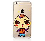 Para Transparente Estampada Capinha Capa Traseira Capinha Desenho Macia TPU para AppleiPhone 7 Plus iPhone 7 iPhone 6s Plus/6 Plus iPhone
