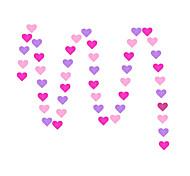 raylinedo® 1 Stück 4 Meter stieg rosa und lila Papiergirlande für Hochzeit Party Geburtstag Dekoration Herzform 7 * 7cm