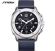 SINOBI Fashion Watch Water Resistant / Water Proof Noctilucent Shock Resistant Quartz Genuine Leather Band Casual Navy