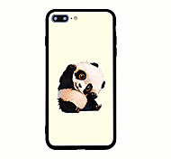 Para Estampada Capinha Capa Traseira Capinha Animal Rígida Acrílico para AppleiPhone 7 Plus iPhone 7 iPhone 6s Plus iPhone 6 Plus iPhone