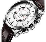Men's Fashion Watch Wrist watch Quartz Stainless Steel Band Cool Casual Luxury Black Silver Brown