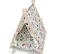 Log Triangular Tent Warm Kennel Cat Pet Beds Pet Supplies
