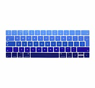 XSKN® European English Gradient Silicone Keyboard Skin and Touchbar Protector for 2016 Newest MacBook Pro 13.3/15.4 with Touch Bar Retina