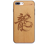 Chinese Dragon Loong Ultra-thin Protective Back Cover iphone Wood Case for iPhone 7plus iphone6s 6Plus SE 5s