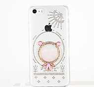 For Rhinestone DIY Case Back Cover Case 3D Cartoon Hard PC for Apple iPhone 7