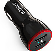Anker® 24W Dual USB Car Charger PowerDrive 2 for iPhone Samsung Galaxy LG G4 G5 Google Nexus iOS and Android Devices