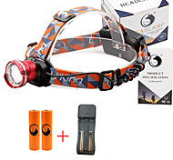 U'King® ZQ-X830R#3-US CREE XML-T6 LED 2000LM Zoomable 180 Rotate 3Modes Headlamp Bike Light Kits with Rear Safety LED