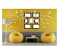 raylinedo® 1 Stück 4 Meter gelb grau und weiß Papiergirlande für 7 Form Dekoration Herz Weihnachtsfest-Hochzeit Geburtstag * 7cm