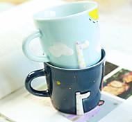 Мультяшная тематика Стаканы, 300 ml Эргономический дизайн Керамика Сок Телесный Кофейные чашки