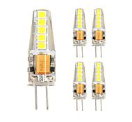 5pcs g4 10LED smd2835 ac / DC12V 3w 500lm blanc chaud blanc de haute qualité à double broche lampe étanche à l'eau