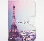 For Samsung Galaxy Tab 4 7.0 with Stand Case Full Body Case Eiffel Tower Hard PU Leather Universal for Tab 3 7.0 Tab 2 7.0 Tab A 7.0