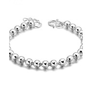 Bracelet Chain Bracelet Gem Silver Plated Others Fashion Birthday Gift Valentine Christmas Gifts Jewelry Gift Silver,1pc