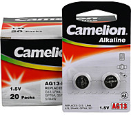 Camelion AG13 Coin Button Cell Alkaline Battery 1.5V 40 Pack