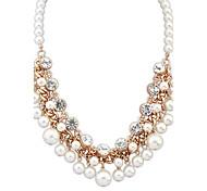 Modische Halsketten Ketten Schmuck Party Alltag Normal Böhmen-Art Aleación Künstliche Perle 1 Stück GeschenkWie in der Abbildung