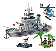 DIY KIT Building Blocks Toys For Gift  Building Blocks Model & Building Toy Warship Ship Plastic 5 to 7 Years 8 to 13 Years 14 Years & Up