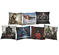 Set of 7 Avenger 2  Linen  Cushion Cover Home Office Sofa Square  Pillow Case Decorative Cushion Covers Pillowcases