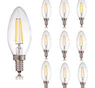 2W E14 Bombillas de Filamento LED C35 2 COB 180 lm Blanco Cálido Blanco Fresco Decorativa AC 100-240 V 10 piezas