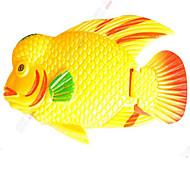 Aquário Decoração Peixe Artificial Atóxico & Sem Sabor Plástico Amarelo
