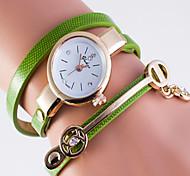Fashion Watch Quartz Leather Band Casual White Blue Green