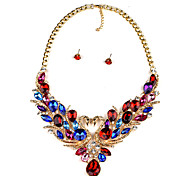 Jewelry Set Jewelry Alloy Simulated Diamond Unique Design Dangling Style Adjustable Euramerican Statement Jewelry Jewelry Rainbow Red Blue
