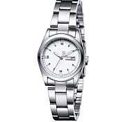 Fashion Watch Swiss Designer Quartz Alloy Band Charm White