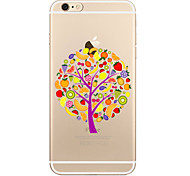 For Transparent Pattern Case Tree Soft TPU for Apple iPhone 7 Plus 7 iPhone 6 Plus iPhone 6  iPhone 5 SE 5C  iphone 4