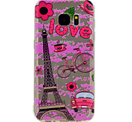 For Samsung Galaxy S8 Plus S7 Eiffel Tower Pattern Soft TPU Material Phone Case for S6 S8