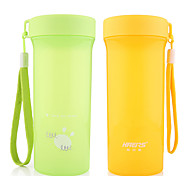 Colored Sports Drinkware, 500 ml Portable Plastic Juice Water Tumbler