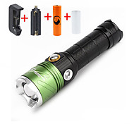 U'King ZQ-X1032G#-US CREE XML T6 2000LM 3Mode Flashlight Torch Kit with Purple UV Light