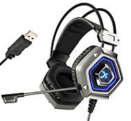 xiberia x13 Pro USB 7.1 sourround PC de la computadora del auricular del stero de juego cancelación nosie jugador auricular bajo pesado