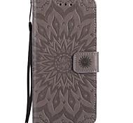 Назначение iPhone X iPhone 8 Чехлы панели Кошелек Бумажник для карт со стендом Флип Рельефный С узором Чехол Кейс для Мандала Твердый