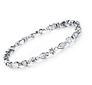 Bracelet Chain Bracelet Alloy Zircon Rhinestone Others Fashion Party Birthday Gift Christmas Gifts Jewelry Gift Silver,1pc