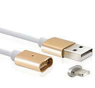 2.4а новый металлический магнитный 8pin USB зарядка кабель зарядного устройства для Apple Iphone 7 6s 6 плюс се 5с 5с 5 для Ipad Ipod Touch 5 6