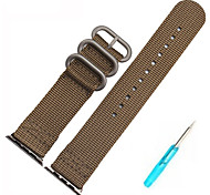 38 42 mm Nylon Strap Watch Band with the adapter on for Apple Watch-top quality