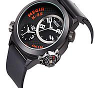 Masculino Relógio de Moda Quartzo Silicone Banda Legal Casual Preta