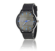 Sport Watch Fashion Watch Quartz Silicone Band Casual Black Brand